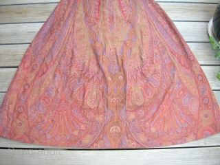 WOMAN'S PAISLEY SHAWL COAT DRESS