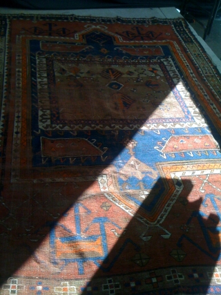 Hand made Balochi Rug size 62 X 92. about 70 years old