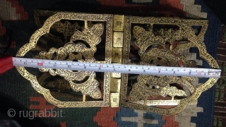 A Beautiful & rare old Gold plated Quran Stand.