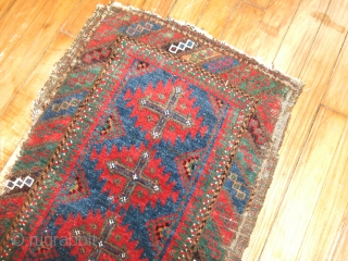 Here is one of my favorite Balouch rugs I have ever seen.  For some reason the pictures are not coming out well.  The blue is electric.  The wool is  ...