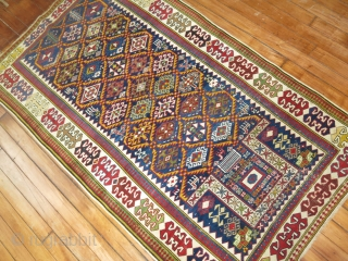 High quality Antique Shirvan Prayer rug.  Not sure exactly where this is from..  Maybe akstafa maybe Kuba.. ETC.  Extremely Fine.  All original.  Only a little low towards  ...