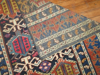 Antique Kuba Fragment Size 2'11''x3'5''.  It is what it is....