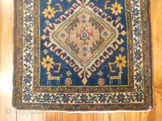 Antique NW Persian Bagface 1'9''x1'10''.  Some corners missing.  Nice piece.