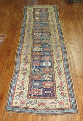 Cut and sewn but very attractive Kurdish rug.  3'x11'8''