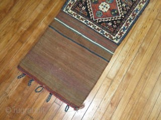 Antique Gashgai or Shiraz bagface.  Excellent condition.  2'x4'