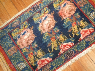 Antique Persian Senneh 2'x1'4''.  One end needs to be secured.  Missing very minimal.
