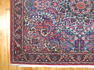Antique Persian Yazd.  Extremely fine & in excellent condition.  Measures 2'10''x3'3''