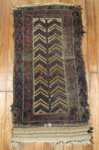 Antique Balouch Rug Size 1'6''x2'11''  Worn up but still wise!