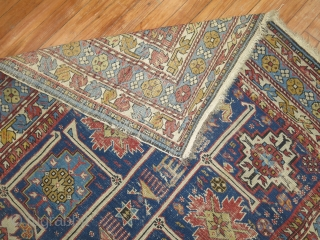 Antique worn Karagashli shirvan size 4'3''x6'3''.  No repairs