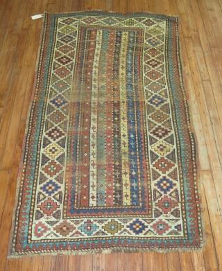 A worn Tetris Kazak.  3'4''x6'