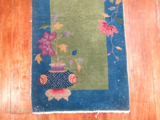 Antique Chinese Art Deco.  Knotheads showing.  Decorative colors. about 2'x4'
