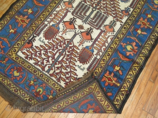 Dated Antique Luri or Bakhtiar.  Great full pile & untouched condition. Size 4'8''x13'