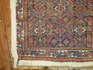 Antique Afshar Bagface.  2'1''x2'4''.  Worn.