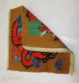 Excellent Tibetan Small rug.  Nice drawing excellent vintage condition.