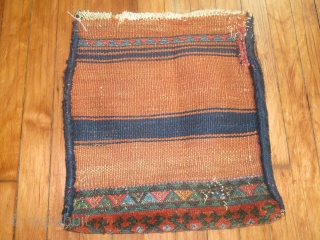 Antique Persian or Kurdish Bagface.  1'4''x1'5''