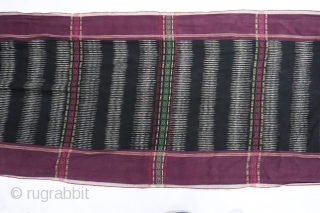 Antique Tobo Batak Indonesia Weaving.  Nice graphic.  Measure 2'x5'
