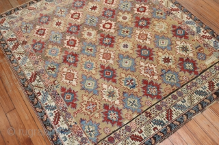Antique Snowflake Kuba.  Dated.  Size 4'1''x4'6''.  Excellent condition for age.