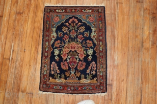 Antique Kashan 1'10''x2'6''.  Excellent condiiton.  Minor low areas.