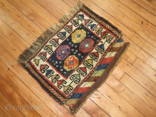 Antique Kurdish Bagface.  Cool to me.  Condition has some missing parts.  Pile is there.  Quite awesome.  Size is 1'9''x1'4''