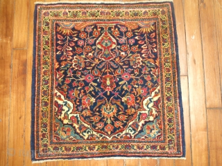Antique Persian Kashan Size 1'9''x1'10''.  No condition issues to report.  Excellent.