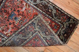 Antique Jozan Sarouk.  Lovely desin. Size 2'x2'7''.  Excellent condition.