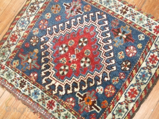 Antique Shiraz Bagface. Very nice sky blue field.  Some ends partially missing.  Size is 2'2''x1'10''