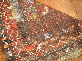 Antique Ersari Bagface.  Nice example..  Condition is a bit worn and rough on sides and ends as you can tell.  1'4''x1'3''