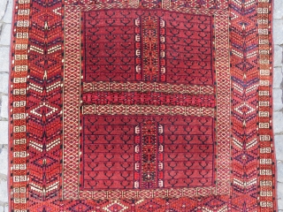 Turkoman Yamud Engsi rug very nice colors and excellent condition all original Circa 1900-1910
