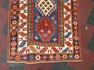 Caucassian Borchalo kasak  rug wonderful colors and excellent condition all original full pile Circa 1900-1910 if you need any question please contact me  #antiquerugs #antiquecarpets #antiquekilims #decorative #decoration #homedecoration #vintage #largecollection  ...