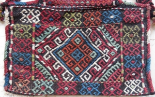 Caucassian Genghe aria salt bag very nice colors and excellent condition all original size 37x34 cm Circa 1900-1910