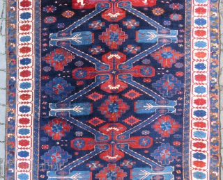 Caucassian Kuba Zehkur wonderful colors and excellent condition all original full pile size 2,80x1,42 cm (56''x110'') inches Circa 1900-1910