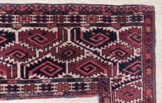 Turkoman Kapunulk all original very nice colors , very good condition and size 1,44x80 cm without tassel Circa 1900