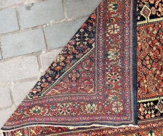 Antique Malayer rug wonderful colors and very good condition all original Circa 1900