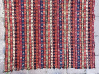 Antique Sivas shawl wool and wool incredible fine work and like rainbow colors 1,27x69 cm ( 27'' x 50'' inches ) Circa 1820-1835