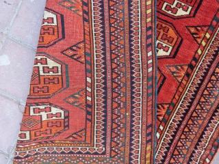 Turkoman small arabache rug wonderful colors and very good condition all original size 1,17x93 cm Circa 1900-1910