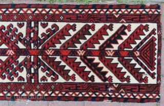 Turkoman tent bant wonderful colors and very nice condition size 1,05x41 cm  and circa 1900