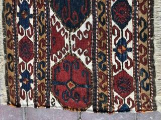 Caucassian Borchalo Kasak sumak panel amazing colors and excellent condition all original size 54x39 cm Circa 1870-1880