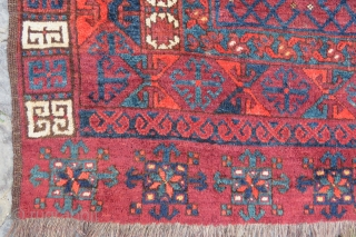 Ersary tipe Engsy rug very nice colors and good age some aria is elittle down but pile on it size 1,90x1,60 cm Circa 1890