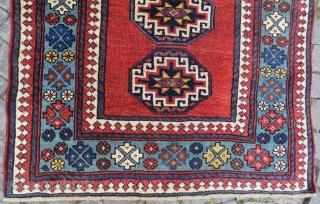 Antique very nice colors runner all original memnulk gul size 4,05x1,05 cm Circa 1890-1900