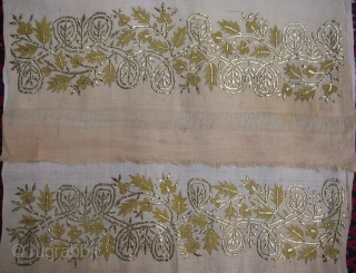 Ottoman Towel ( Peshker Tel kirma) gold and thread work wondrful Circa 1900