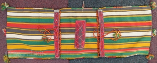 Shahsawen silk saddle bag for kids all original wonderful colors and very good condition Circa 1900