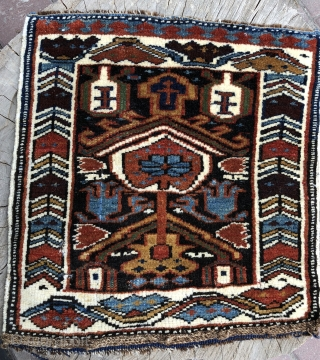 Caucassian Shirvan bag face wonderful colors and very good condition size 47 x44 cm and Circa 1900-1910