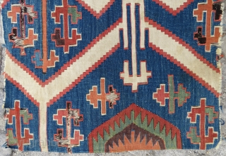 Central Anatolian Konya  Kilim fragment wonderful colors and size 86x54 cm