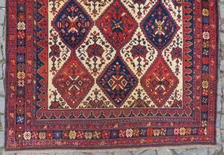 Wonderful Avshar rug like tile colors very nice condition all original Circa 1890-1900