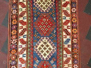 Antique Borchalo Kasak wonderful colors and excelent condition all original size 2,23 x 1,21 cm Circa 1900