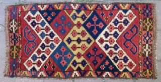 Central asian Uzbek bag face wonderful colors and very good condition all origibal Circa 1890-1900