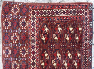 Turkoman wonderful Camel chuval all colors are vegetable it has some old repair Circa 1890-1900