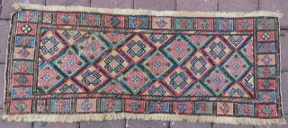 Antique Caucasian verneh technic  cradle panel all colors are Natural, excellent  condition and all original size 1,00 x 37 cm Circa 1875-1880