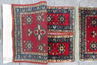 Central Anatolian tashpinar saddle bag (Wedding bag)wonderful colors anbd excellent condition all original Circa 1900-1910