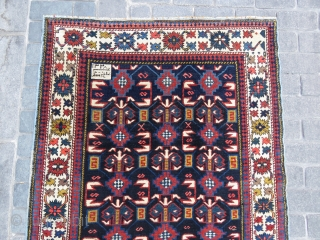 Caucassian Kuba Shirvan rug with date and some arabic letter all original and very nice condition Circa 1905